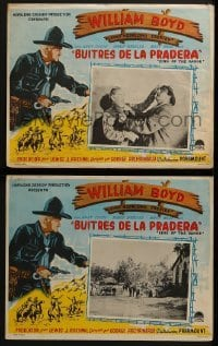 5c045 MARAUDERS 2 Mexican LCs 1947 Boyd as Hopalong Cassidy smashes lawless band with bullets!