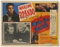 5c038 ON THE WATERFRONT Mexican LC 1954 directed by Elia Kazan, Marlon Brando and Eva Marie Saint!