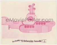 5c043 YELLOW SUBMARINE Mexican LC R1970s Beatles John, Paul, Ringo & George, wacky pink sub art!