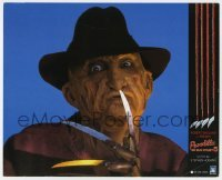 5c026 NIGHTMARE ON ELM STREET 5 Spanish LC 1990 image of Freddy Krueger shushing... carefully!