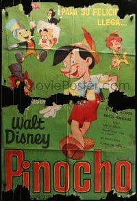 5c048 PINOCCHIO Spanish R1963 Disney classic cartoon about wooden boy who wants to be real!