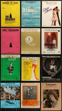 5d279 LOT OF 12 SHEET MUSIC 1960s-1980s great songs from a variety of different movies!