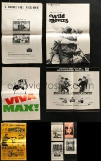 5d266 LOT OF 9 UNCUT PRESSBOOKS 1960s-1970s advertising for a variety of different movies!