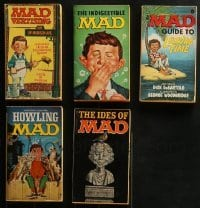 5d038 LOT OF 5 MAD PAPERBACK BOOKS 1960s-1970s early issues from Warner & Signet!