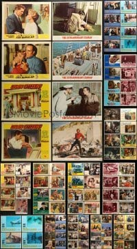 5d174 LOT OF 100 LOBBY CARDS 1950s-1990s incomplete sets from a variety of different movies!