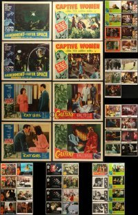 5d185 LOT OF 53 LOBBY CARDS 1930s-1990s incomplete sets from a variety of different movies!