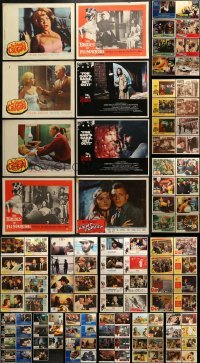 5d169 LOT OF 127 LOBBY CARDS 1950s-1990s incomplete sets from a variety of different movies!