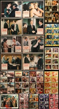 5d172 LOT OF 105 LOBBY CARDS 1960s complete sets of cards from a variety of different movies!