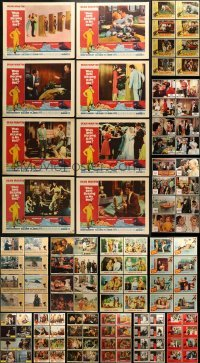 5d168 LOT OF 128 LOBBY CARDS 1960s-1970s complete sets of cards from a variety of movies!