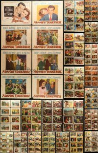 5d162 LOT OF 168 LOBBY CARDS 1940s-1960s complete sets of cards from a variety of movies!