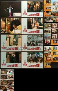 5d191 LOT OF 39 LOBBY CARDS 1960s-1970s incomplete sets from a variety of different movies!