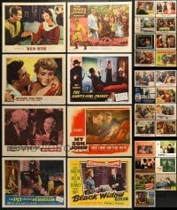 5d194 LOT OF 31 LOBBY CARDS 1940s-1980s great scenes from a variety of different movies!