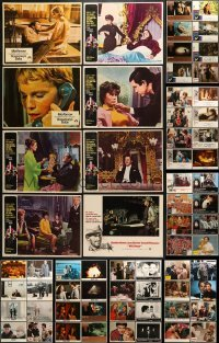 5d178 LOT OF 66 LOBBY CARDS 1940s-1980s incomplete sets from a variety of different movies!