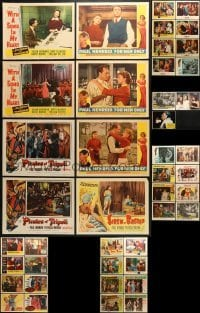 5d189 LOT OF 43 LOBBY CARDS 1940s-1970s incomplete sets from a variety of different movies!