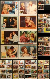 5d177 LOT OF 67 LOBBY CARDS 1940s-1980s great scenes from a variety of different movies!