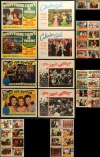 5d190 LOT OF 42 LOBBY CARDS 1940s-1960s incomplete sets from a variety of different movies!