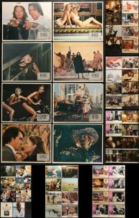 5d183 LOT OF 56 LOBBY CARDS 1970s-1990s incomplete sets from a variety of different movies!