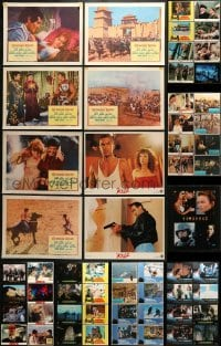 5d179 LOT OF 65 LOBBY CARDS 1970s-1990s incomplete sets from a variety of different movies!