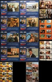 5d187 LOT OF 48 LOBBY CARDS 1960s-1980s complete sets from a variety of different movies!