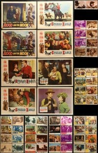5d175 LOT OF 82 COWBOY WESTERN LOBBY CARDS 1940s-1960s incomplete sets from a variety of movies!