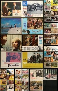 5d181 LOT OF 59 LOBBY CARDS 1960s-1980s great scenes from a variety of different movies!