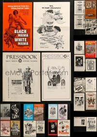 5d249 LOT OF 38 UNCUT PRESSBOOKS 1960s-1980s advertising for a variety of different movies!