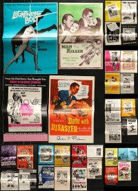 5d242 LOT OF 47 UNCUT PRESSBOOKS 1950s-1970s advertising for a variety of different movies!