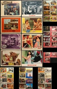 5d186 LOT OF 51 LOBBY CARDS 1940s-1960s incomplete sets from a variety of different movies!