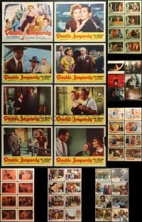 5d184 LOT OF 54 LOBBY CARDS 1950s-1980s mostly complete sets from a variety of different movies!