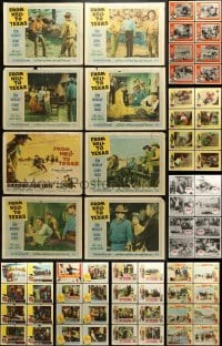 5d171 LOT OF 112 COWBOY WESTERN LOBBY CARDS 1950s-1960s complete sets from a variety of movies!