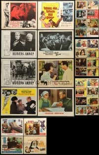 5d192 LOT OF 36 1960S LOBBY CARDS 1960s incomplete sets from a variety of different movies!