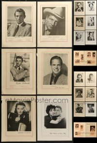 5d278 LOT OF 13 PORTRAIT TRADE ADS 1940s-1950s including Stars of Tomorrow, Robert Mitchum & more!