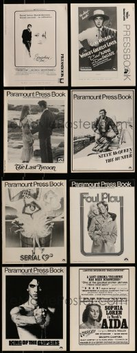 5d267 LOT OF 8 UNCUT PRESSBOOKS 1970s-1980s advertising for a variety of different movies!