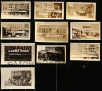 5d019 LOT OF 10 3X5 THEATER FRONT PHOTOS 1930s elaborate outdoor displays with posters & more!