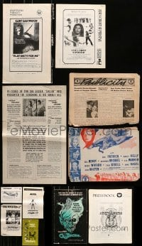 5d275 LOT OF 10 CUT PRESSBOOKS 1940s-1970s advertising for a variety of different movies!