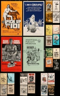 5d245 LOT OF 44 UNCUT PRESSBOOKS 1960s-1970s advertising for a variety of different movies!