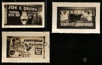 5d017 LOT OF 3 JOE E. BROWN 3X5 LOBBY DISPLAY PHOTOS 1930s-1940s Beware Spooks & more!