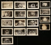 5d023 LOT OF 17 3X5 LOBBY DISPLAY PHOTOS 1930s-1940s elaborate homemade advertising!