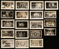 5d024 LOT OF 19 3X5 LOBBY DISPLAY PHOTOS 1930s-1940s elaborate homemade advertising!