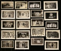 5d025 LOT OF 20 3X5 LIVE STAGE SHOW DISPLAY PHOTOS 1930s elaborate homemade advertising!