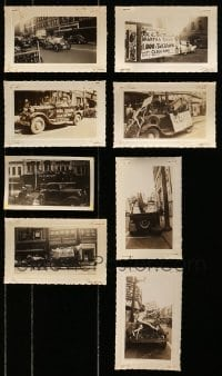 5d028 LOT OF 8 CARS ON THE STREET 3X5 PROMOTIONAL PHOTOS 1930s in front of the theaters!