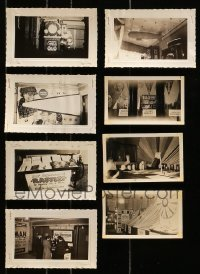 5d027 LOT OF 8 3X5 LOBBY DISPLAY PHOTOS 1930s cool elabroate homemade theater advertising!