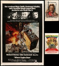 5d001 LOT OF 3 27X41 CLINT EASTWOOD ONE-SHEETS MOUNTED TO FOAMCORE 1970s Where Eagles Dare & more!
