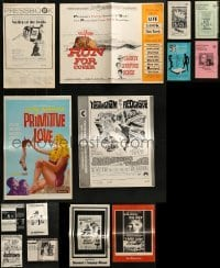 5d261 LOT OF 14 UNCUT PRESSBOOKS 1960s-1970s advertising for a variety of different movies!