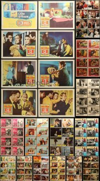 5d165 LOT OF 153 LOBBY CARDS 1960s-1970s complete sets of cards from a variety of movies!