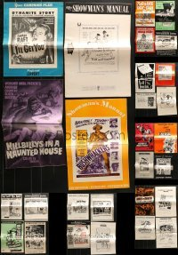 5d247 LOT OF 41 UNCUT PRESSBOOKS 1950s-1970s advertising for a variety of different movies!