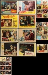 5d193 LOT OF 33 1950S LOBBY CARDS 1950s incomplete sets from a variety of different movies!