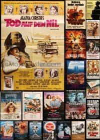 5d276 LOT OF 27 FOLDED GERMAN A1 POSTERS 1960s-1980s great images from a variety of movies!