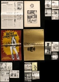 5d256 LOT OF 20 UNCUT PRESSBOOKS 1960s-1970s advertising for a variety of different movies!