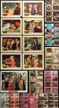 5d170 LOT OF 113 LOBBY CARDS 1960s complete sets of cards from a variety of different movies!